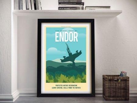 Endor Travel Framed Poster Art
