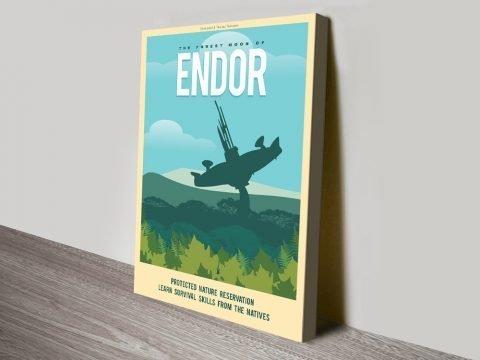 Endor Travel Poster Print