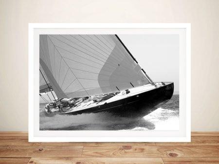 Sailing Yacht Lionheart Nautical Wall Art