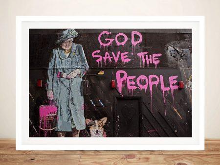 Buy God Save the People Framed Graffiti Wall Art