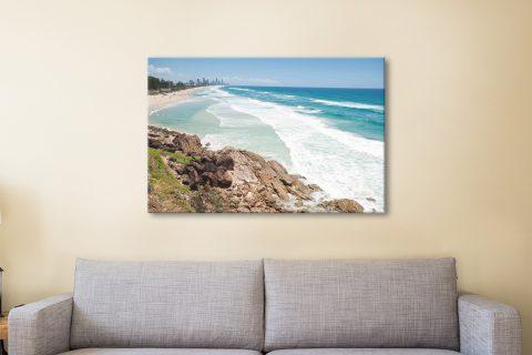 Miami beach queensland canvas artwork