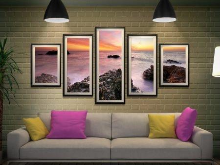 Rocky Bay 5 Panel Split Canvas