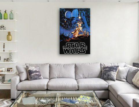 Star Wars Vintage Poster Canvas Artwork Online