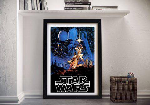 Buy Star Wars Vintage Poster Framed Print Australia