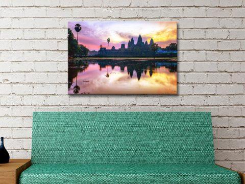 Sunset Angkor Wat Affordable Wall Art AU