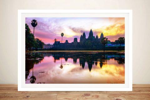 Angkor Wat Sunset Landscape Canvas Art