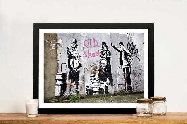 banksy old skool Framed Wall Art Picture