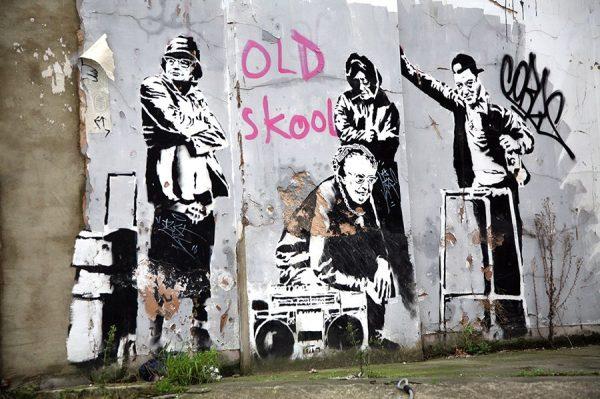 banksy old skool wall art