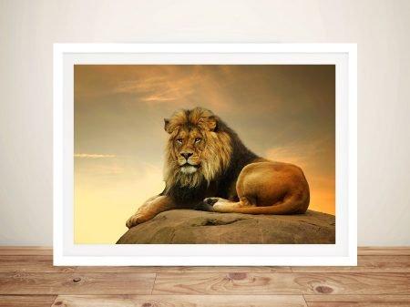 Majestic Lion Animal Wall Art on Canvas