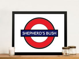 Shepherds Bush Sign Wall Art Print Australia
