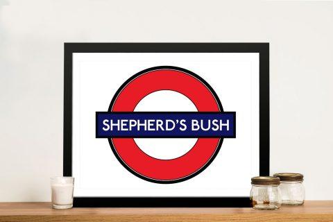 Shepherds Bush Sign Wall Art Print Australia