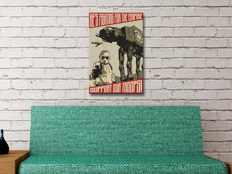 Support our Troops Vintage Star Wars Art