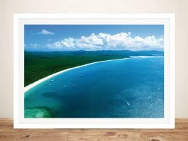 Buy an Aerial Print of Whitehaven Beach