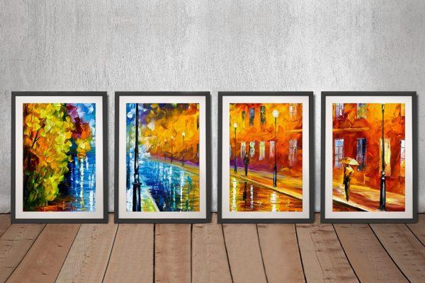Framed Quad Leonid Afremov Art for Sale AU
