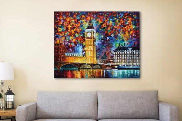 Big Ben London Leonid Afremov Canvas Art
