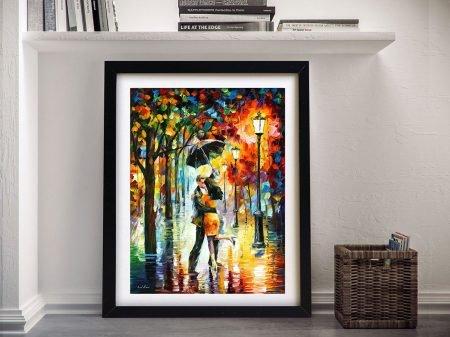 DANCE UNDER THE RAIN Afremov Wall Art