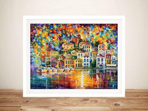 Dream Harbor Leonid Afremov Framed Wall Art