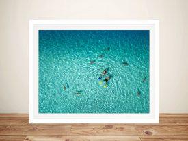 French Polynesia Aerial Photo on Canvas Art