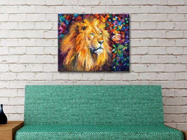 Lion of Zion Afremov Canvas print