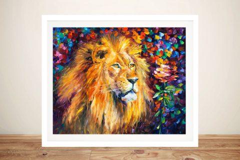 Lion of Zion Afremov Framed Wall Art