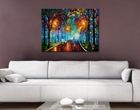 Misty Mood Afremov Canvas Artwork Print