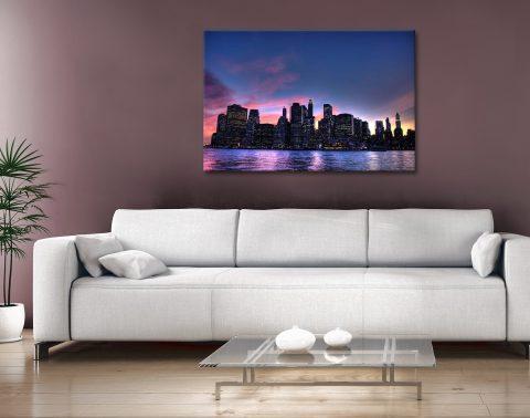 Ready to Hang Manhattan Skyline Art