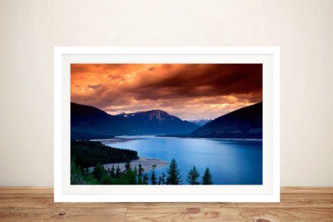 Framed Mountain Lake Scene for Sale Online