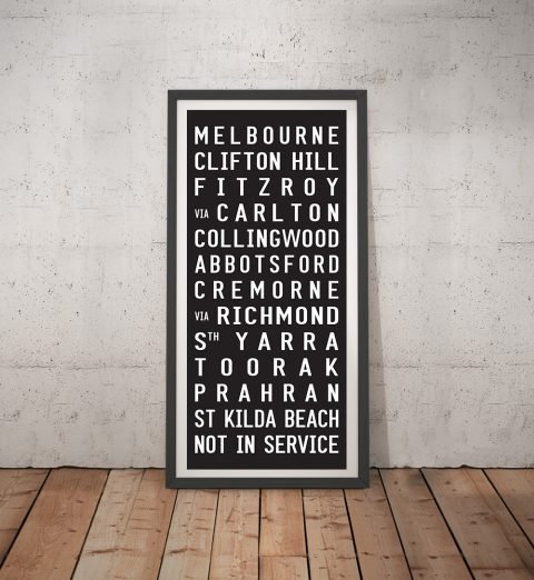 Neighbours Tram Scroll Framed Wall Art