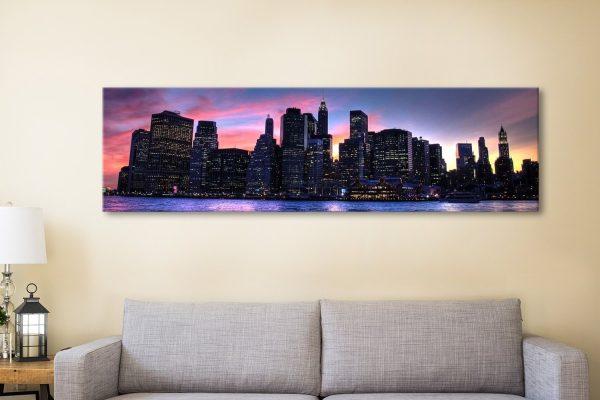 Buy Cheap Panoramic Skyline Wall Art Online