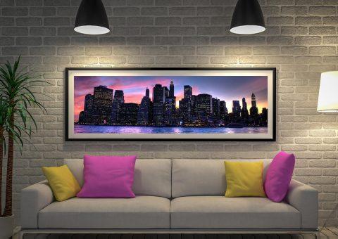 Buy New York Sunset Panoramic Wall Art