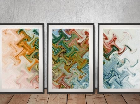 Perception of Peace Abstract Triptych Art