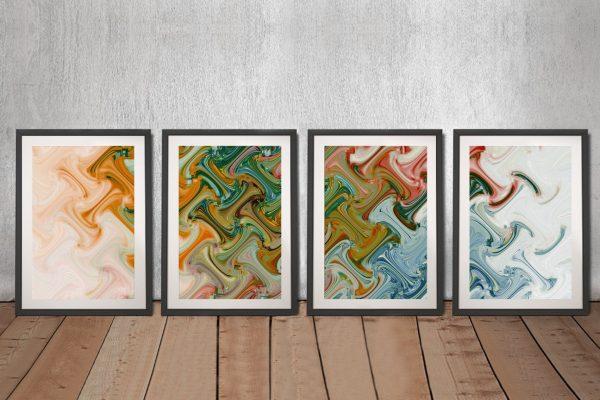 Framed Abstract Xavier Alexander Artwork