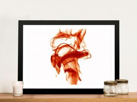 Red Swirl Abstract Wall Art Australia