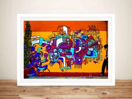 Smooth Criminal Graffiti Framed Wall Art