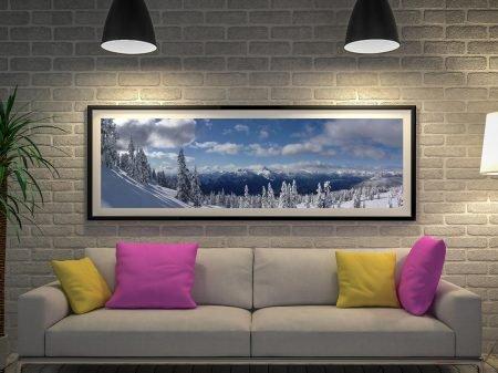 Buy a Snowy Panorama Framed Canvas Print