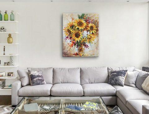 Sunflowers of Happiness Canvas Artwork Leonid Afremov