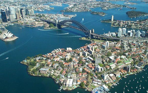 Sydney Harbour Bridge from the air Canvas Artwork