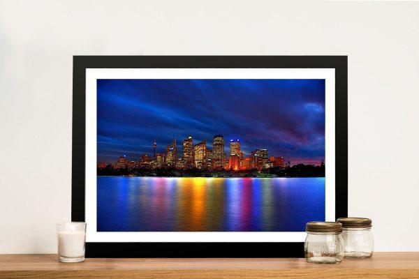 Buy Sydney City Skyline Canvas Artwork