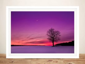 Buy Dusk Hues Tree Sunset Canvas Artwork