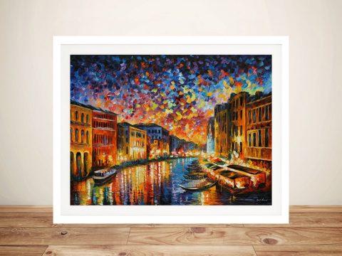 Venice Grand Canal Leonid Afremov Framed Picture Art