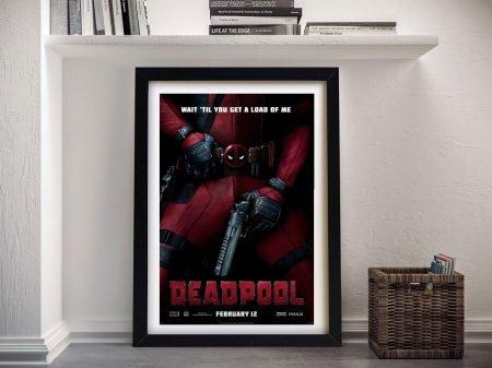 Buy a Deadpool Movie Poster Canvas Print