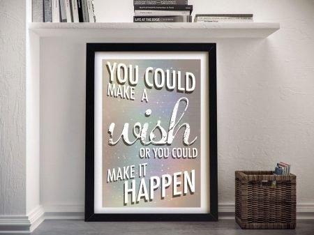 Make it happen quote Framed Wall Art