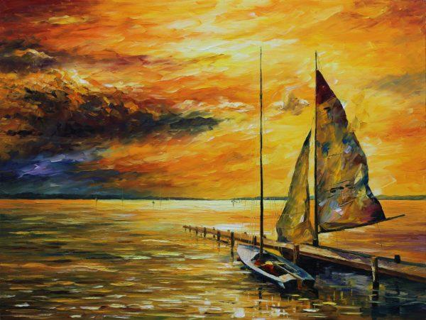 Sailing to the Future Leonid Afremov Artwork