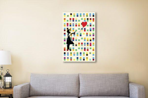 Balloon Girl Canvas Artwork