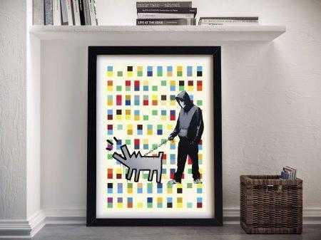 Buy Banksy Dog Walker Framed Wall Artwork