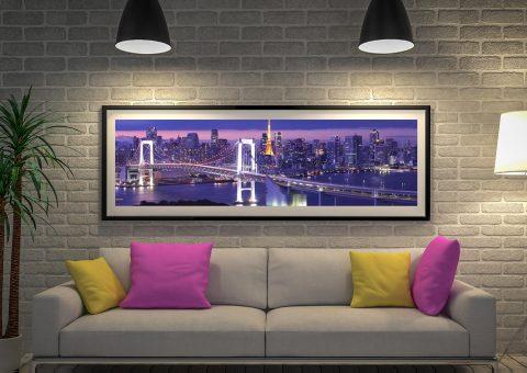 Buy Tokyo Rainbow Bridge Panoramic Art