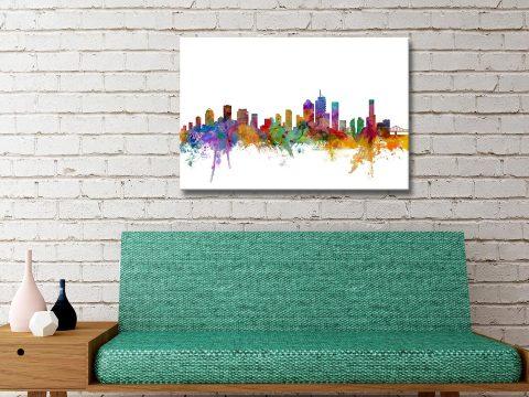 Brisbane Australia Skyline Canvas Artwork