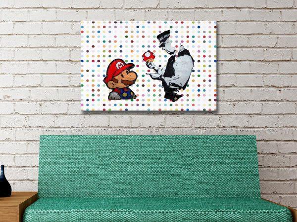 Super Mario Graffiti Canvas print