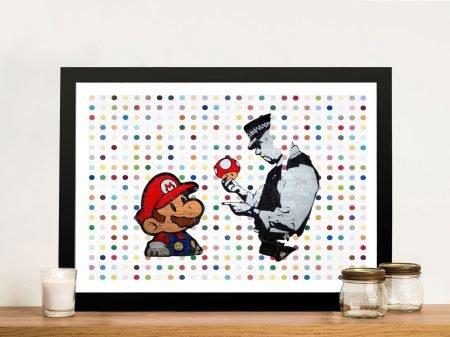 Super Mario Graffiti Art