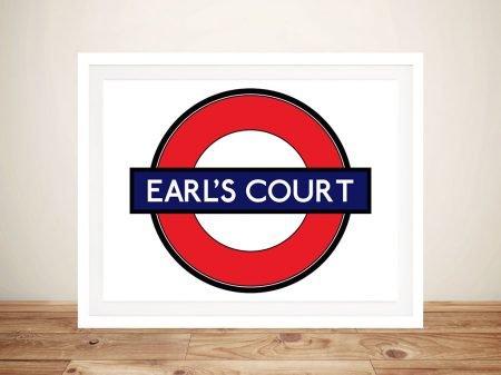 Buy London Underground Earls Court Canvas Art